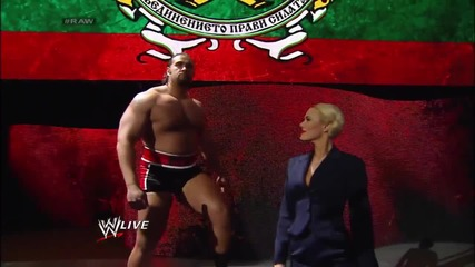 Lana and Alexander Rusev send a message to the Wwe (03.03.14)