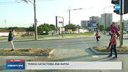 Дете и трима възрастни пострадаха при верижна катастрофа във Варна