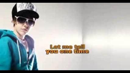 justin bieber - one time karaoke + lyrics