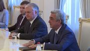 Armenia: Sargsyan receives CSTO foreign ministers for security talks
