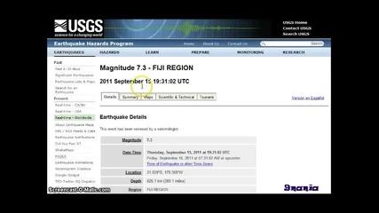 Страховито земетресение удря Земята на 22 март