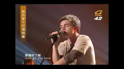 Jesse Mccartney - Just So You Know [live]
