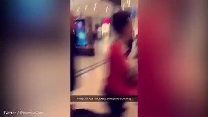 Мъж размаха мачете в мол – клиентите се разбягаха ужасени