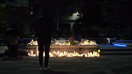 UK: Candles burn into the night after London vigil for Sabina Nessa