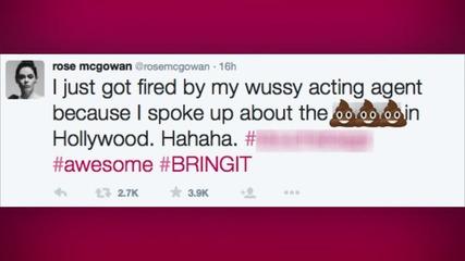 Rose McGowan Fired After Slamming Adam Sandler for Sexist Comments