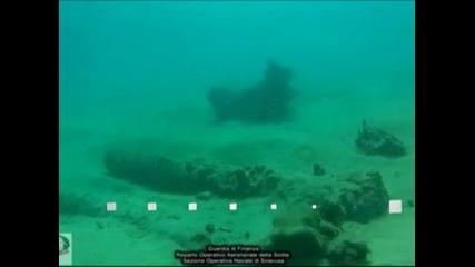 Водолази откриха край Сицилия оръдия на испански галеон