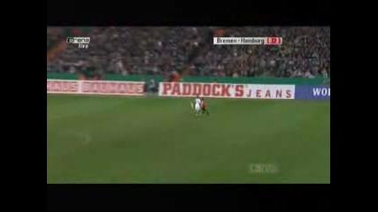 Verder - Hamburg 0 - 2 Van Der Vaart Goal - Vbox7