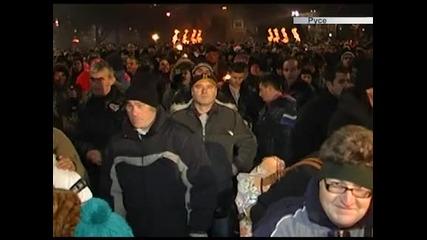 Хиляди посрещнаха Нова година на площад