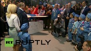 Russia: Putin handles giant 'flying' axe at MAKS-2015