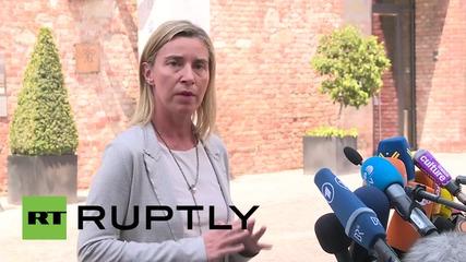 "Austria: Iran talks reach ""painful"" but necessary stage - Mogherini"