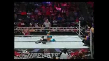Superstars 24 09 09 - Maria & Melina vs. Michelle Mccool & Layla