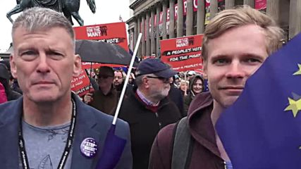 UK: Anti-Brexit protesters call for 'People's Vote' in Liverpool