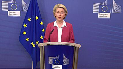 Belgium: EU hits target of vaccinating 70 percent of its adults against COVID - von der Leyen