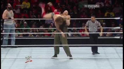 Даниел браян срещу Семейството уаят (3ма срещу 1 хандикап мач) / Tlc 2013