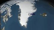 Гренландия справка за повишена изтъняване на ледената покривка