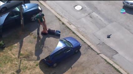Мъж влачи пияна жена в кв. Люлин София