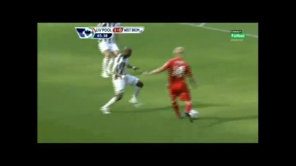 Torres goal on Liverpool vs West Bromwich match (29 08 2010 )