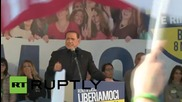 Italy: Berlusconi rallies in support of Lega Nord in leftist Bologna