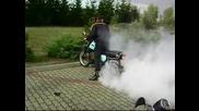 2бр. Mz Etz 251 палят гуми