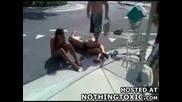 Две пияни мацки се пребиха с количка от магазин