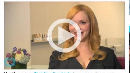 Christina Hendricks Lightens Her Locks, Debuts New Blond Hair Color--Watch Now!