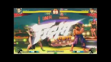 Street Fighter 4 Chun Li vs Ryu