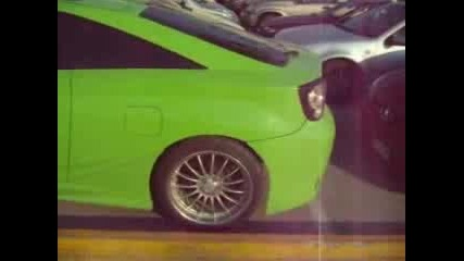 Toyota Celica Green Tuning