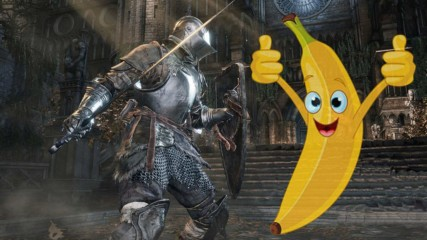 Gamer beats notoriously difficult game with BANANAS!