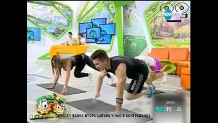 Гимнастика...вместо новини в сутрешен блок в Румъния