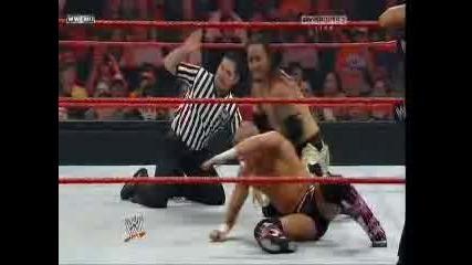 Fatal Four Way 2010 - The Hart Dynasty & Natalya vs The Usos & Tamina