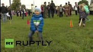 """Russia: """"Cossack"""" folk festival hits Moscow"""