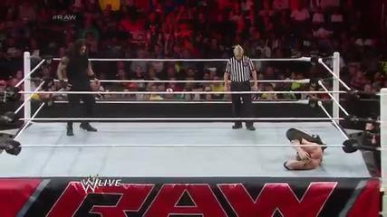 Kane vs. Roman Reigns - Wwe App Vote Match Raw, March 31, 2014