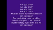 R U Crazy - Conor Maynard Lyrics