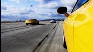 V - 8 Pony Car Drag Race! 2011 Mustang Gt vs 2010 Camaro Ss vs 2010 Dodge Challenger Srt8