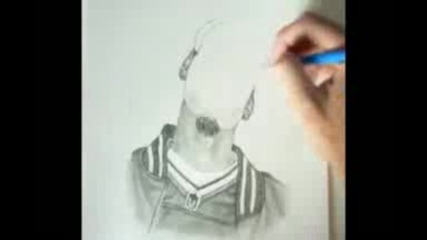 Speed Drawing of Snoop Dogg