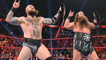 The Viking Raiders capture Raw Tag Team Titles: Raw, Oct. 14, 2019