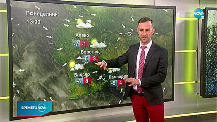 Прогноза за времето (08.03.2021 - сутрешна)