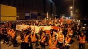 Бой на демонстранти с полицията в протестно шествие във Варшава - Полща 1/2