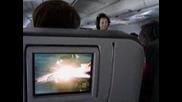 Телевизор зад седалката в самолет!
