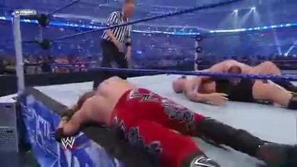John Cena Fu on Big Show and Edge
