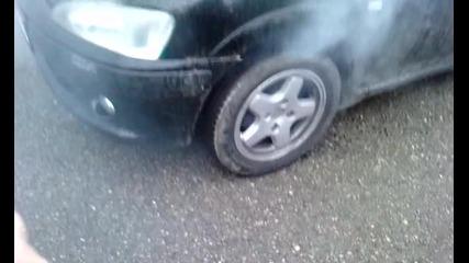 Peugeot burnout