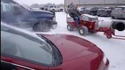 Най-бързото почистване на автомобили от снега
