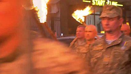 Ukraine: Torchlit procession marks 'Defender of Ukraine Day'