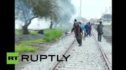 Chile: Heavy clashes hit Lota as police fire water cannon & tear gas at protesters