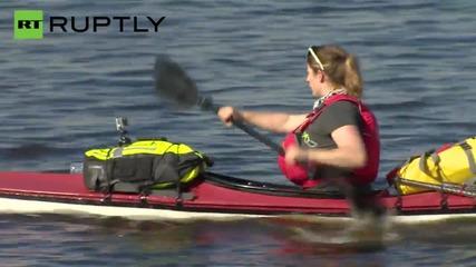 British Adventurer Begins 2,300 Mile Kayak Voyage Down Russia's Volga River