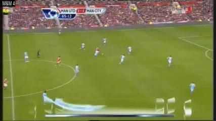 Manchester United Vs Manchester City 1 - 1 Goal David Silva