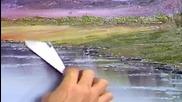 S06 Радостта на живописта с Bob Ross E11 - западен простор ღобучение в рисуване, живописღ