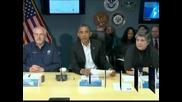 """Обама обеща пълна подкрепа на пострадалите от урагана """"Санди"""""""