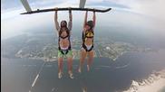 Да се държиш за хеликоптер във въздуха и да скочиш. Екстремно!