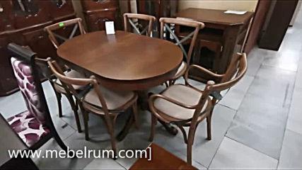 www.mebelrum.com Ретро маси със столове българска изработка